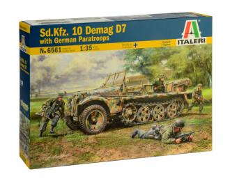 Сборная модель Тягач Sd.Kfz. 10 DEMAG D7 with German Paratroops