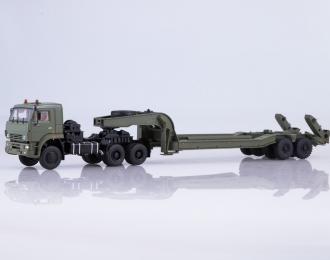 КАМАЗ-65225 с полуприцепом ЧМЗАП-5247Г, хаки