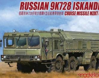 Сборная модель «Искандер-К» Российский оперативно-тактический ракетный комплекс (ОТРК)