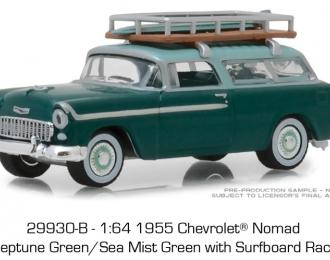 CHEVROLET Nomad с доской для сёрфинга 1955 Sea Mist Green
