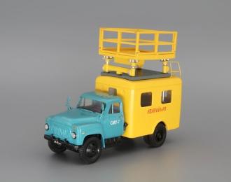 АТ-70(52-04) ремонт контактной сети, голубой / желтый
