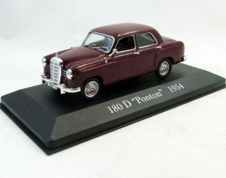 MERCEDES-BENZ 180 D Ponton (1954), Mercedes Offizielle Modell-Sammlung 14, темно-красный