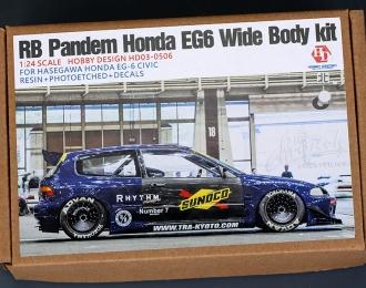 Конверсионный набор RB Pandem Honda EG6 Wide Body Kit для моделей Hasegawa Honda EG-6 Civic (Resin+PE+Decals)