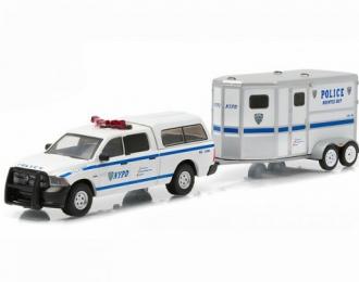 DODGE RAM 1500 с прицепом для перевозки лошадей NYPD (полиция Нью-Йорка) 2015