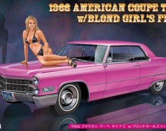 Сборная модель Cadillac Deville (1966) с фигурой девушки