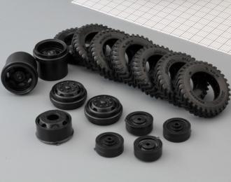 Резина, диски для ZIS-150, Ёлочка, (комплект из 7 колес)