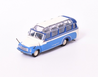 OPEL Blitz Panaramabus, Kultowe Autobusy PRL 19, blue / white