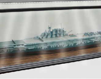 Бокс для моделей с LED подсветкой (Корабли 1/200) размер 1500х440х440 мм