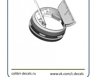 Набор для доработки Командирская башенка Су-100 открытая (ZVEZDA)