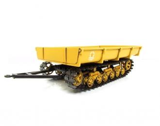 МТП-24Б прицеп гусеничный, желтый