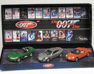 ASTON MARTIN + FORD Thunderbird + JAGUAR XKR Set 3 Cars James Bond 007 «Die Another Day»