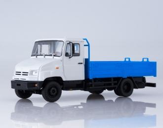 ЗИЛ-5301 бортовой, серый / голубой