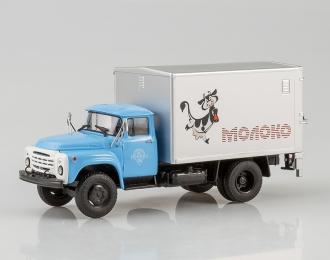 Фургон с грузоподъёмным бортом У-165 Молоко (на шасси ЗИЛ-130), голубой
