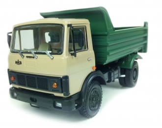МАЗ 555102 самосвал (1988-1993), бежевый / зеленый