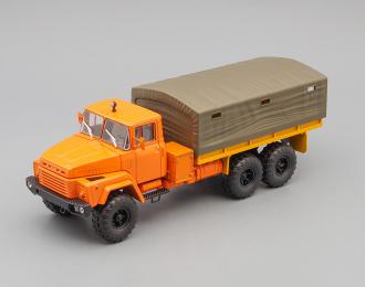 КРАЗ 260 бортовой с тентом (1979), оранжевый