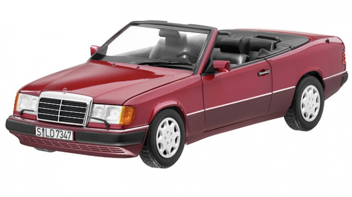 MERCEDES-BENZ 300CE-24 Cabriolet A124 (1992), red metallic