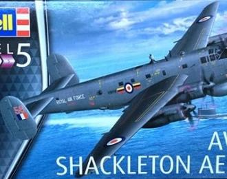 Сборная модель Британский патрульный противолодочный самолет Avro SHACKLETON Mk.2 AEW