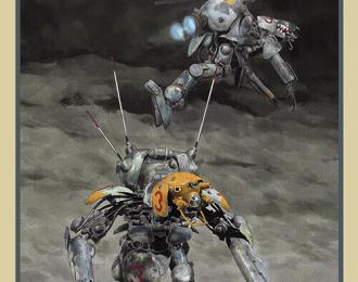 Сборная модель Боевой робот Moon/Space Type Humanoid Unmanned Interceptor VEGA/ALTAIR (HASEGAWA) 1/20