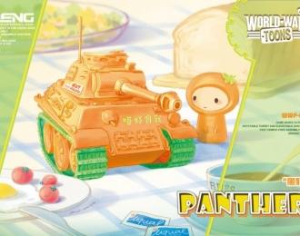 Сборная модель Немецкий средний танк PzKpfw V Panther (карикатура, сборка без клея для детей)