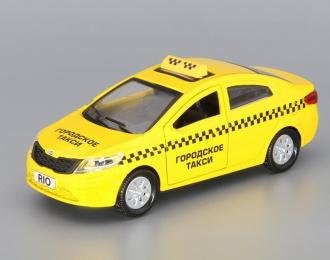 KIA Rio Такси, yellow