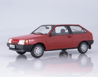 ВАЗ 2108 Samara (1989), rubin red with grey interior