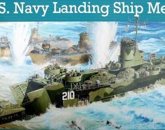 Сборная модель Американское десантное судно LSM (раннее)