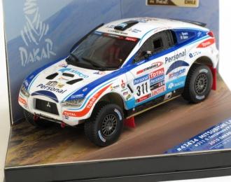MITSUBISHI Lancer #311 O.Terranova / P.Maimon Dakar Rally (2010), white / blue