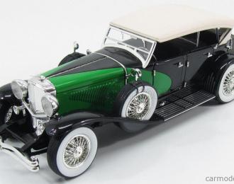 DUESENBERG Model J (1934), black / green