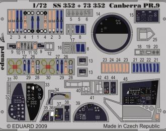 Фототравление Британский средний бомбардировщик English Electric Canberra PR.9