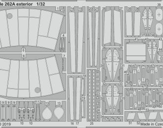 Набор фототравления для Me 262A экстерьер