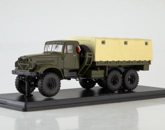 КРАЗ-214 бортовой (с тентом), хаки