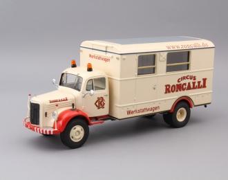 MERCEDES-BENZ L3500 Circus Roncalli, cream