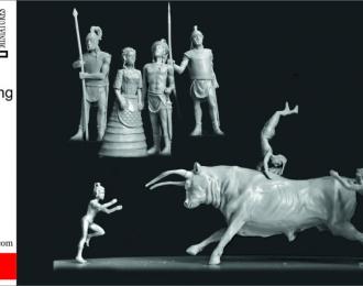 Сборная модель Игры с быком. Древний Крит