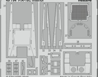 Фототравление для F/ A-18C интерьер