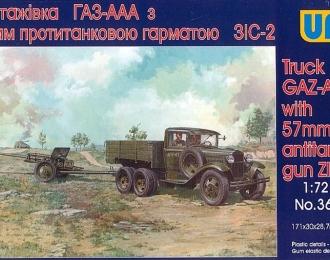 Сборная модель Советский грузовой автомобиль Горький-ААА с 57-мм противотанковой пушкой ZIS-2