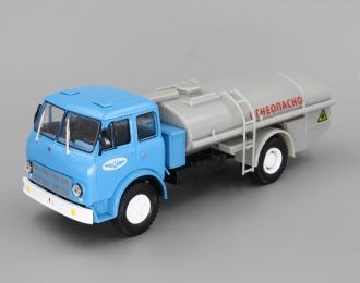 "(Уценка!) МАЗ ТЦ-7.5 Цистерна ""Огнеопасно"" Аэрофлот, голубой / серый"