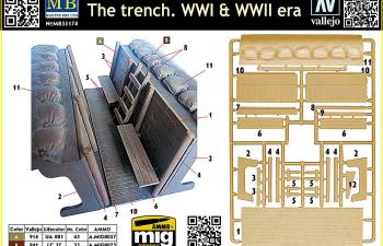 Сборная модель Траншея. Первая и Вторая мировые войны