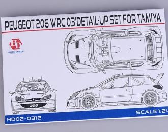 """Набор для доработки Peugeot 206 WRC 03"""" Detail-UP Set для моделей T (PE+Metal parts)"""