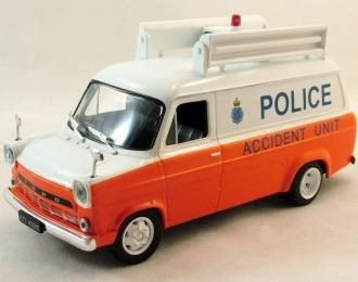 FORD Transit MkI Metropolitan Police GB, Полицейские Машины Мира 26, бело-оранжевый