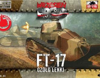 Сборная модель Французский лёгкий танк FT-17