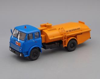 (Конверсия!) МАЗ 5334 (ТЗА-7,5-5334) Топливозаправщик, Автомобиль на службе 71, синий с оранжевым