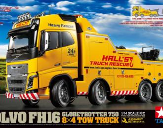 Сборная модель VOLVO FH16 GLOBETROTTER 750 8x4 Tow Truck (Эвакуатор для грузовиков)