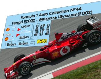 Набор декалей Formula 1 №44 Ferrari 2002 Schumacher