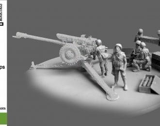 Сборная модель Расчет к советской буксируемой 122-мм гаубице Д-30 (ВДВ РФ)