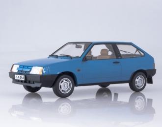 ВАЗ 2108 Samara (1985), valentine blue with brown interior
