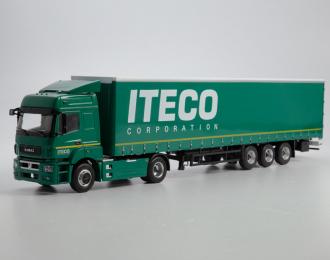 Камский грузовик 5490 с полуприцепом НЕФАЗ-93341, зеленый