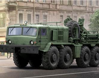 Сборная модель Автомобиль-эвакуатор КЭТ-Т на базе большегрузного автомобиля МАЗ-537 (1;35 , Trumpeter)