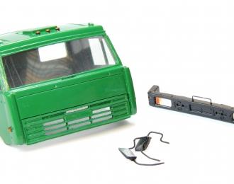 Спальная кабина для КАМАЗ (Евро-2, плоский бампер), зеленый