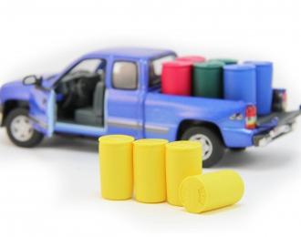 Набор пластиковых евробочек (227 литров) 4 шт, желтый