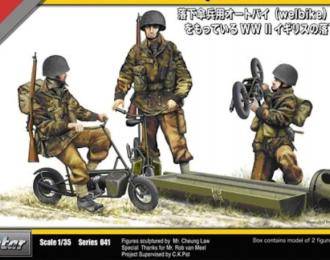 Сборная модель Tristar  WW II British Paratroopers with Welbikes